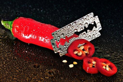 Pepperoni, Rojo, Fuerte, Corte, Cuchillo